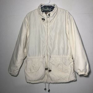 Woolrich Parka Jacket Off White Vintage Women M